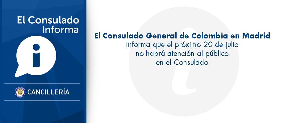 Consulado de colombia en madrid for Oficina de atencion al ciudadano linea madrid