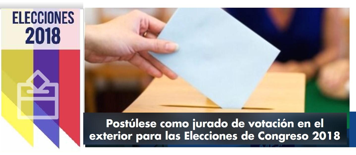 Post Lese Como Jurado De Votaci N En El Exterior Para Las Elecciones De Congreso 2018